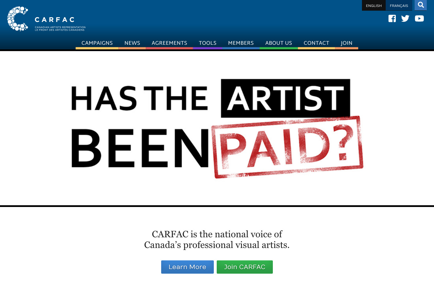 CARFAC (Canadian Artists' Representation / Le Front des artistes canadiens)