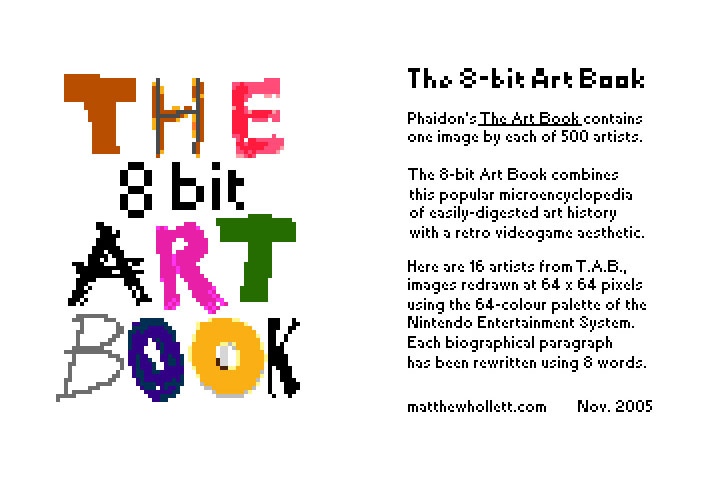 8-bit Art Book, front and back covers